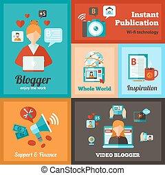 blogger, θέτω , αφίσα