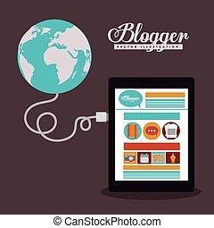 blogger, diseño