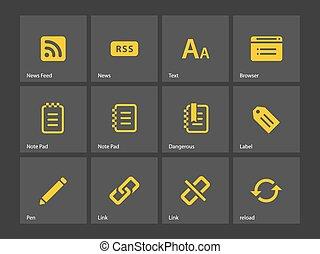 blogger, icons.