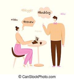 blogger, ilustración