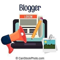 blogger, media, sociaal, blog