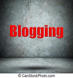 blogging, 上, 具体的牆