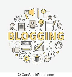 Blogging colorful illustration