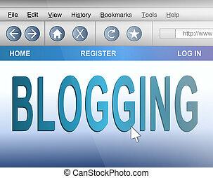 blogging, concept.