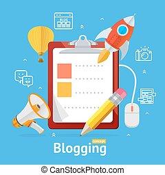 Blogging Concept. Vector