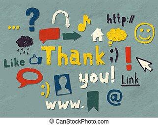 Blogging icons - Set of hand drawn blogging symbols...