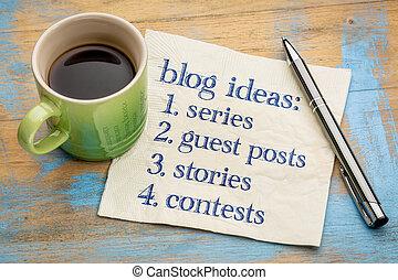 Blogging ideas list