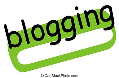 Blogging sticker stamp - Blogging sticker. Authentic design ...