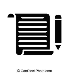 Bloging glyph icon