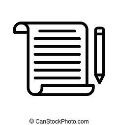 bloging thin line icon