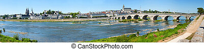 Blois in Loire Valley, France - Panorama of Blois in Loire...