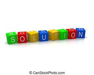 blokje, oplossing