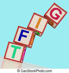blokjes, schenking verlenend, bijdrage, of, kado, betekenen