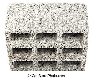 blokjes, -, vrijstaand, drie, hoog, bouwsector, hoek