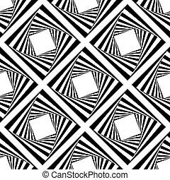 blokkok, motívum, vektor, seamless, ábra