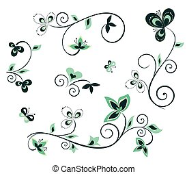 blom formgivning, elementara