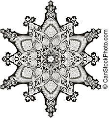 blom- mönstra, arabiska, motiv