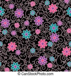blom- mönstra, filigran