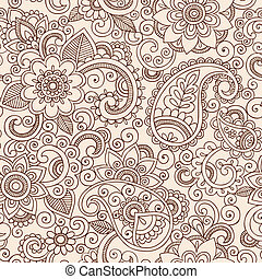 blom- mönstra, paisley, henna, mehndi