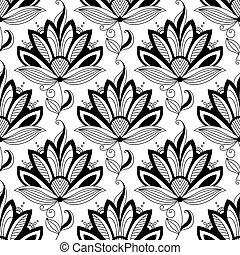 blom- mönstra, paisley, seamless