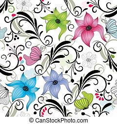 blom- mönstra, repeterande
