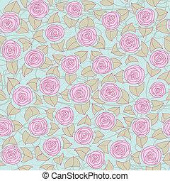 blom- mönstra, roses., seamless