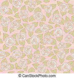 blom- mönstra, seamless, ro