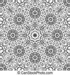blom- mönstra, seamless, skissera