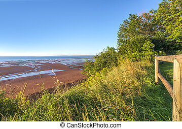 Blomidon beach in the morning (Blomidon Provincial Park,...