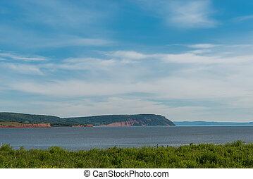 Blomidon cliffs (Blomidon Provincial Park, Nova Scotia, ...
