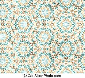 blomma, abstrakt, mönster,  seamless, orientalisk, blommig,  geometr, Arabiska