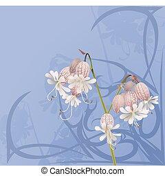 blomma, bakgrund, vacker