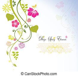 blomma, fjäder, bakgrund