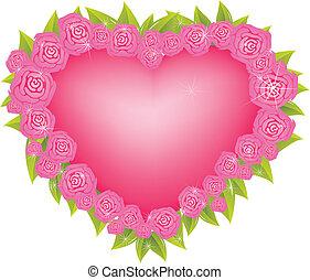 blomma, hjärta