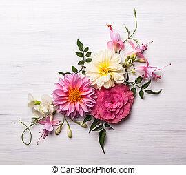 blomma, komposition