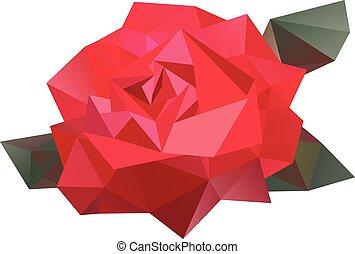 blomma, vektor, geometrisk