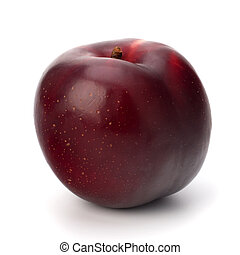 blomme, frugt, rød