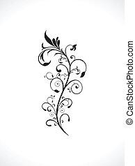 blommig, abstrakt, artistisk, bakgrund