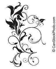 blommig, abstrakt, artistisk