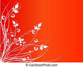 blommig, abstrakt