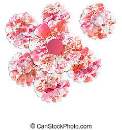 blommig, abstrakt, objekt