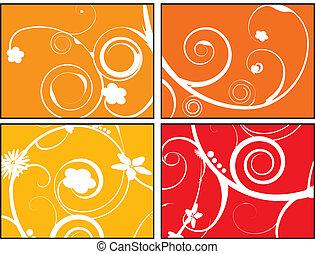 blommig, apelsin, brista