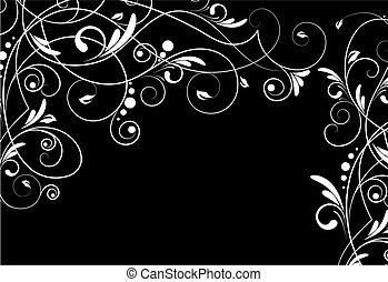 blommig, bakgrund., abstrakt