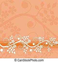 blommig, bakgrund, vektor