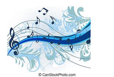 blommig, musik