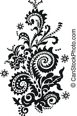 blommig, paisley design