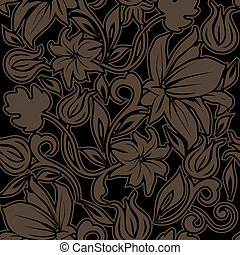 blommig, pattern., seamless