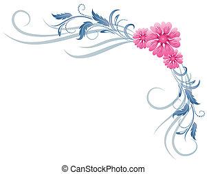 blommig, prydnad