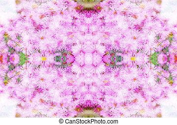 blommig, struktur