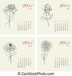 blomningen, 2011, kalender